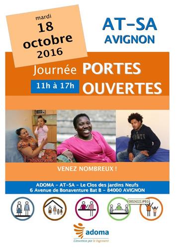 AT-SA Adoma Journée Portes Ouvertes mardi 18 octobre 2016 à Avignon de 11h à 17h