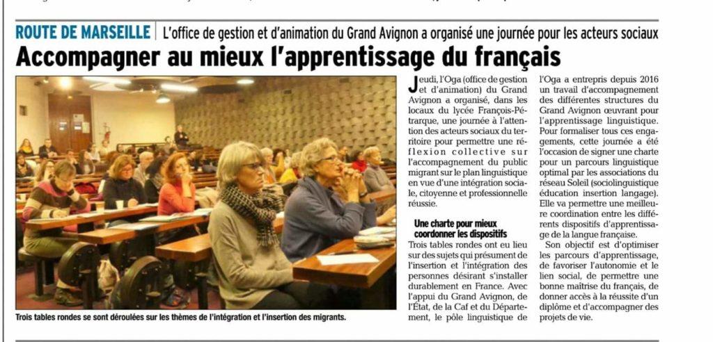 Accompagner au mieux l'apprentissage du français avec L'OGA Pôle Linguistique Grand Avignon