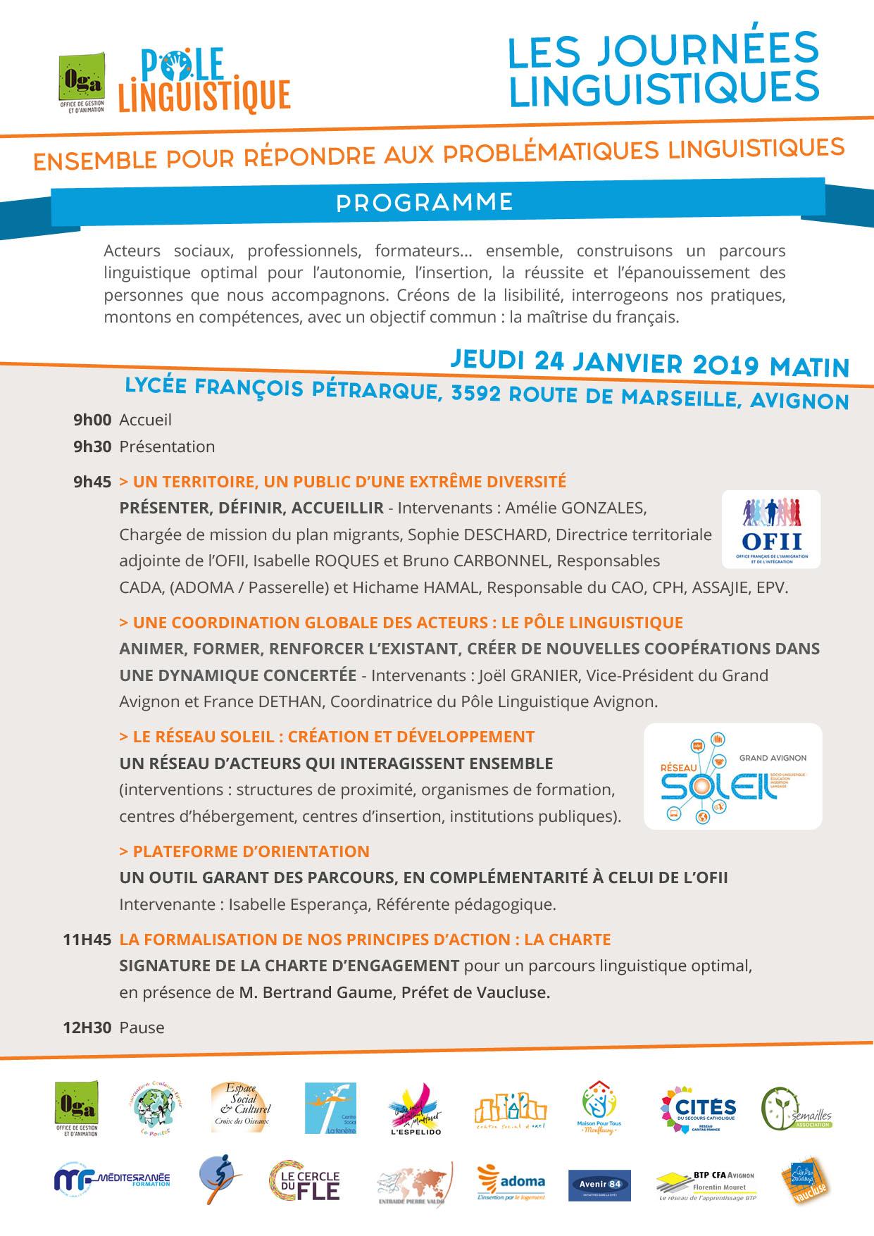 Programme Journées linguistiques 2019