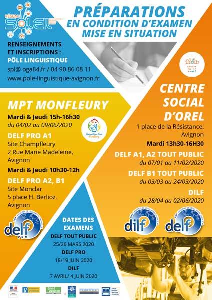 Pôle Linguistique Avignon préparations examens DILF, DELF, DELF Pro